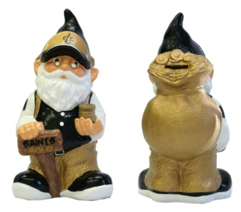 New Orleans Saints Garden Gnome - Coin Bank