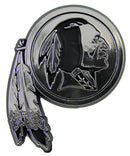 Washington Redskins Auto Emblem - Silver