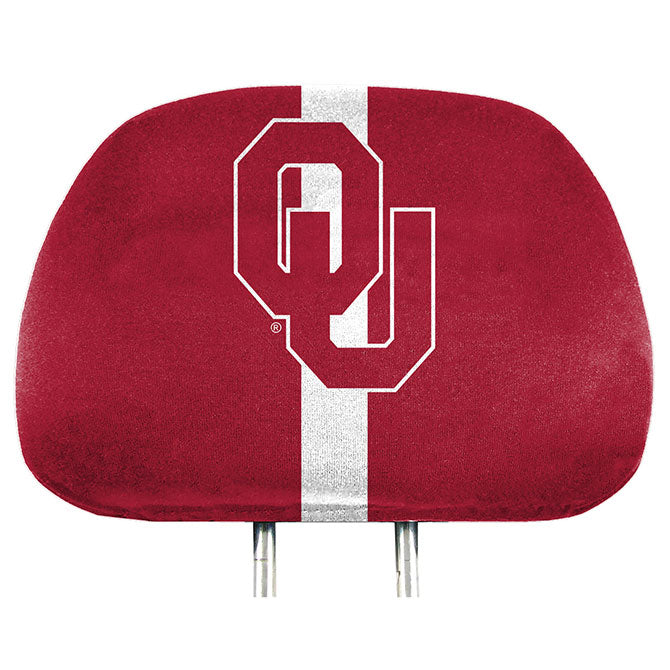 Oklahoma Sooners Headrest Covers Full Printed Style - Special Order