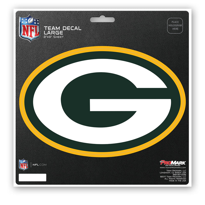 Green Bay Packers Decal 8x8 Die Cut