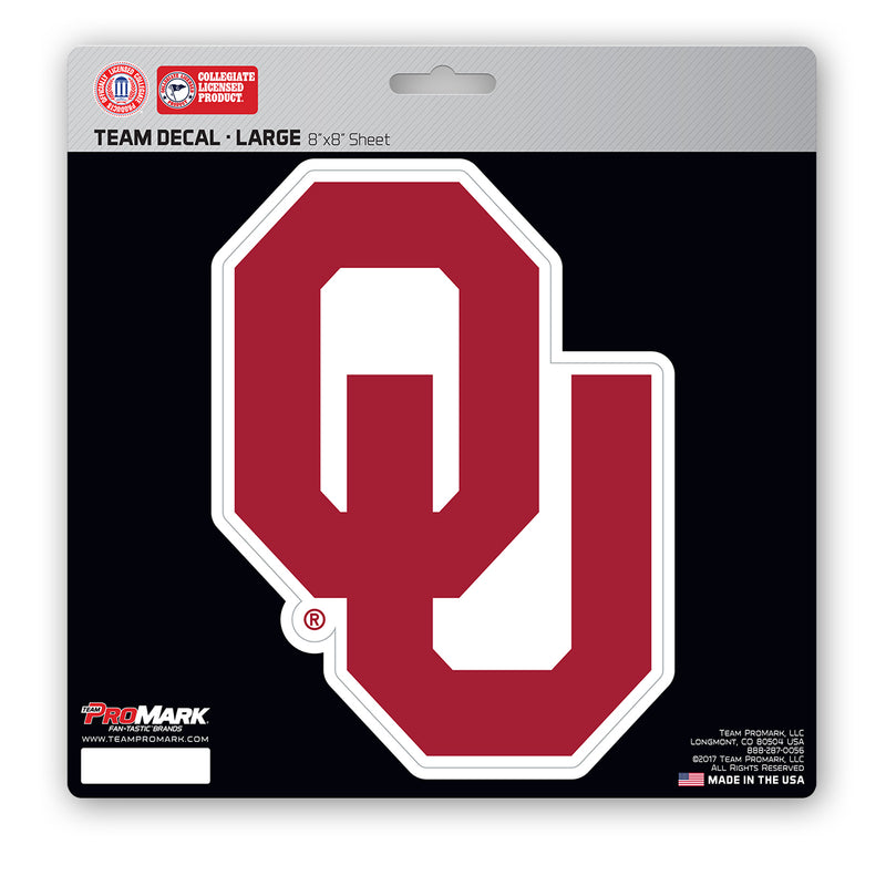 Oklahoma Sooners Decal 8x8 Die Cut