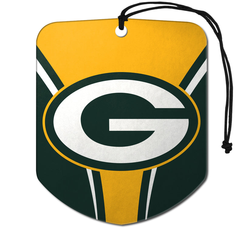 Green Bay Packers Air Freshener Shield Design 2 Pack