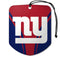 New York Giants Air Freshener Shield Design 2 Pack