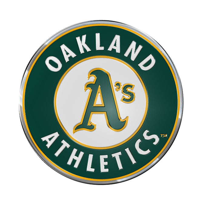 Oakland Athletics Auto Emblem Color