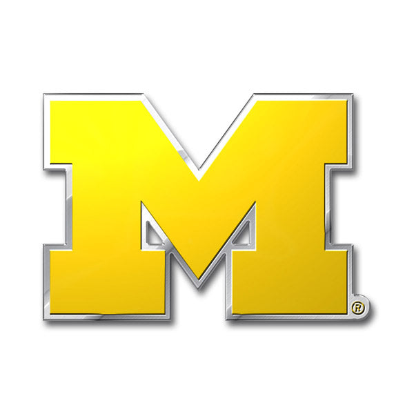 Michigan Wolverines Auto Emblem - Color