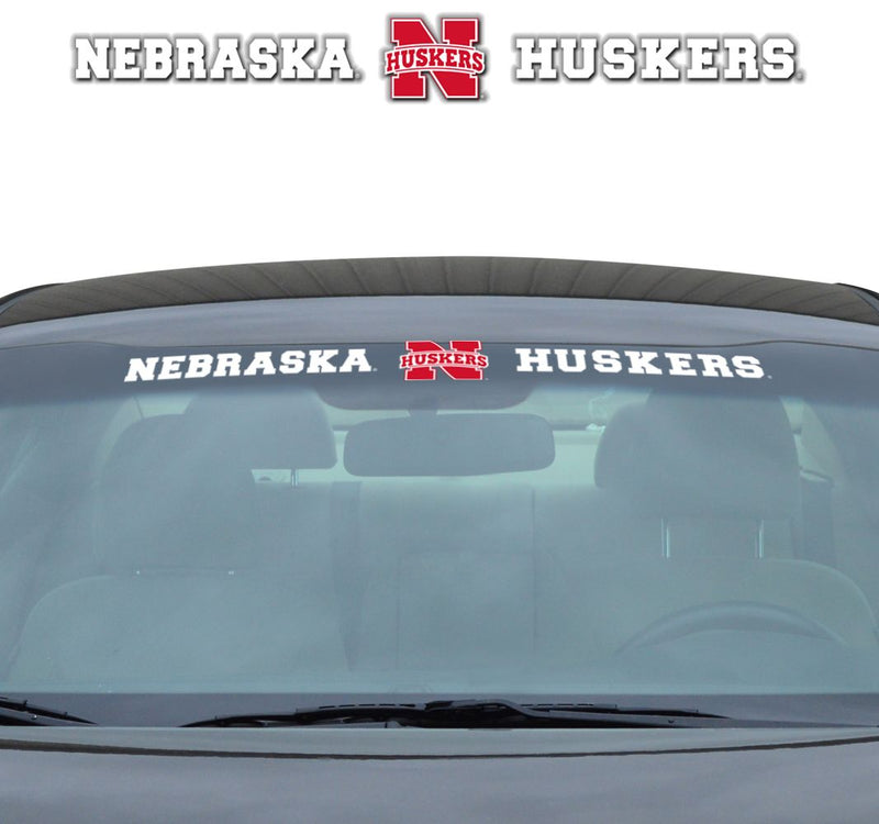 Nebraska Cornhuskers Decal 35x4 Windshield