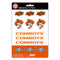 Oklahoma State Cowboys Decal Set Mini 12 Pack - Special Order