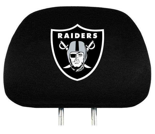 Oakland Raiders Headrest Covers