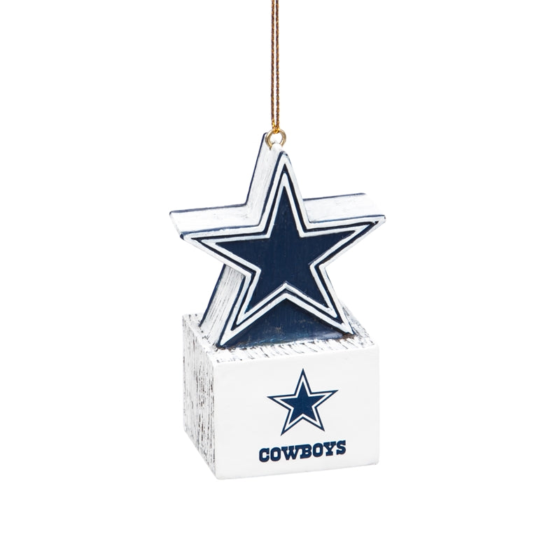 Dallas Cowboys Ornament Tiki Design Star