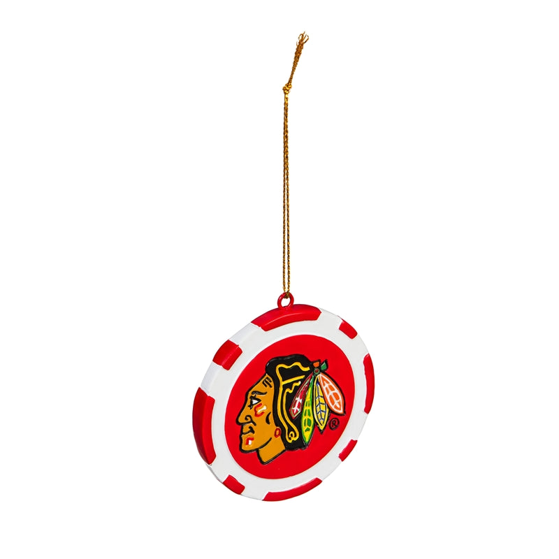 Chicago Blackhawks Ornament Game Chip - Special Order