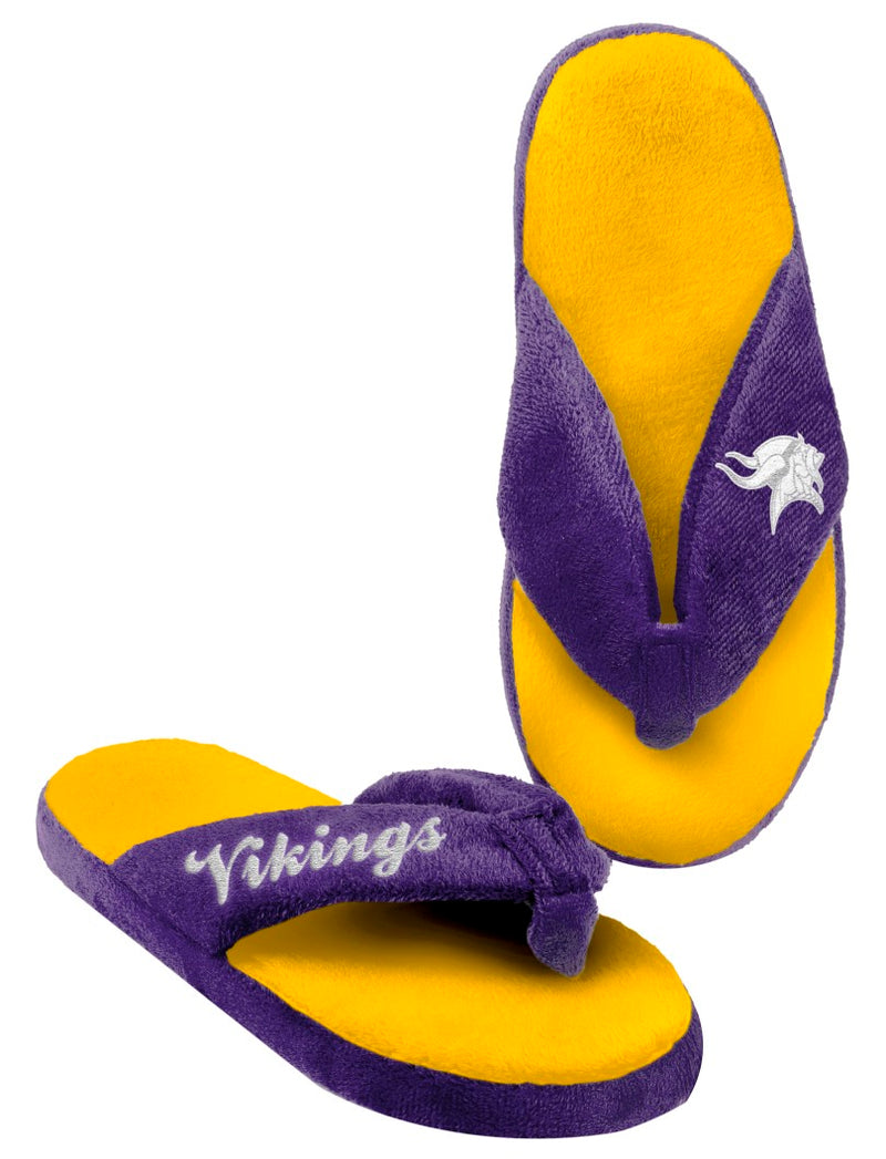 Minnesota Vikings Slippers - Womens Thong Flip Flop (12 pc case)
