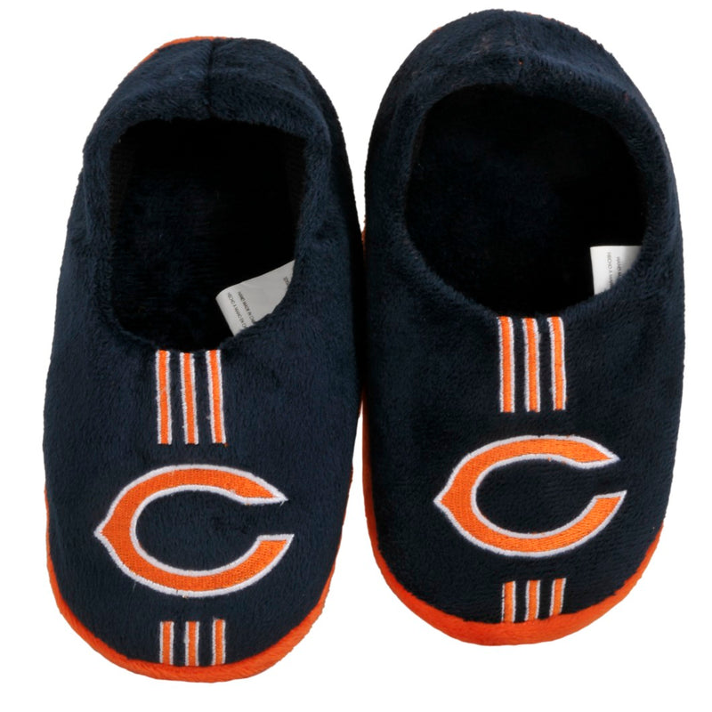 Chicago Bears Slippers - Youth 4-7 Stripe