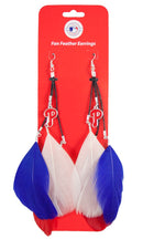Philadelphia Phillies Team Color Feather Earrings