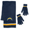 Los Angeles Chargers Scarf and Glove Gift Set Chenille