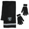 Oakland Raiders Scarf and Glove Gift Set Chenille