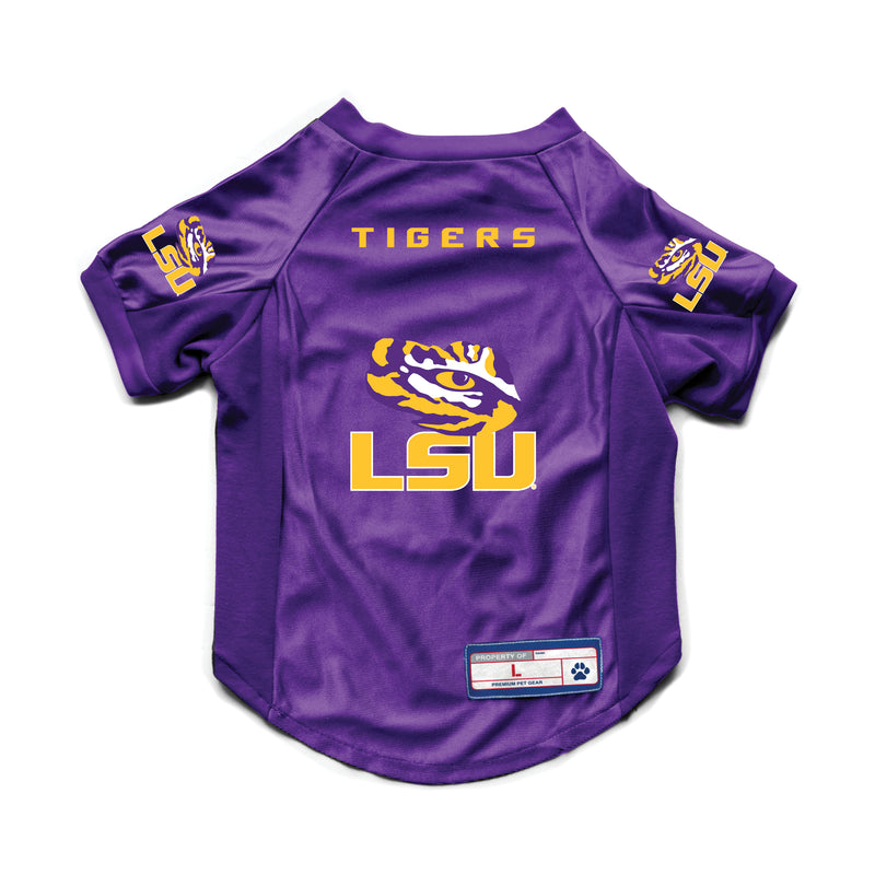 LSU Tigers Pet Jersey Stretch Size M