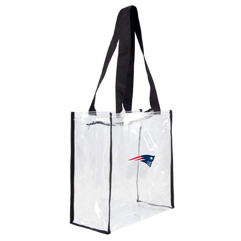 New England Patriots Clear Square Stadium Tote - Special Order