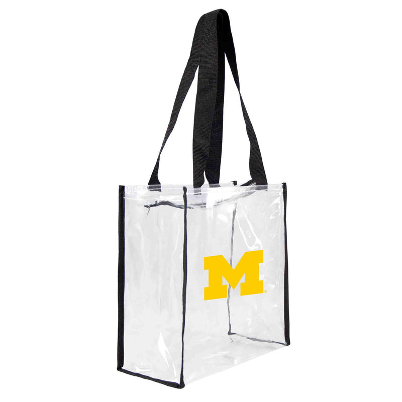 Michigan Wolverines Clear Square Stadium Tote
