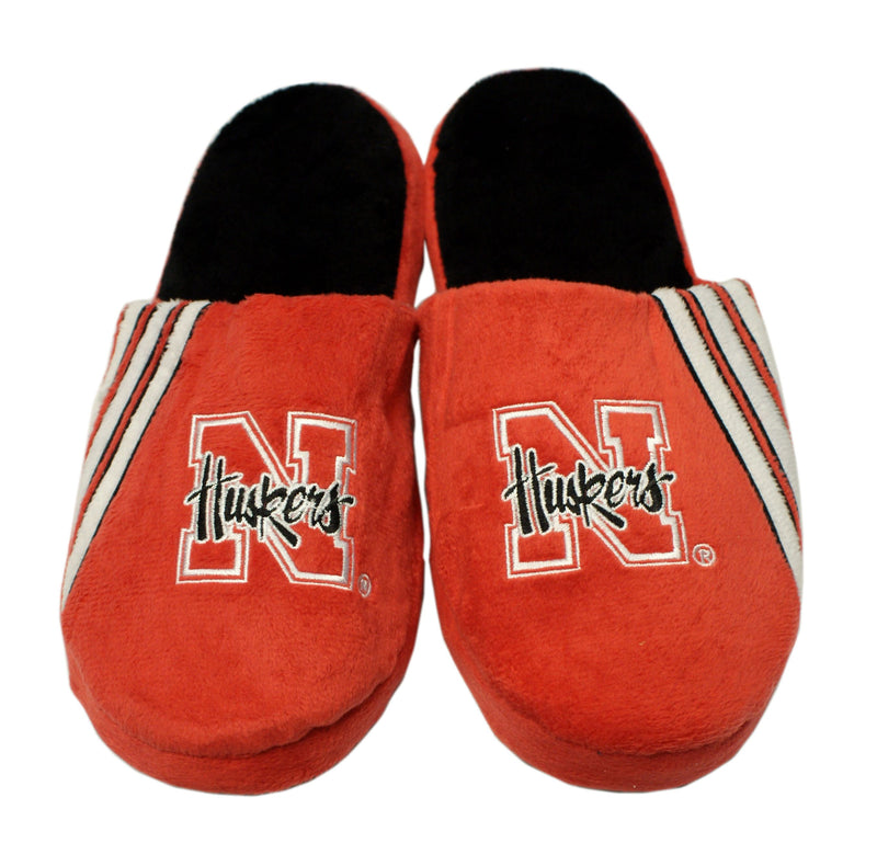 Nebraska Cornhuskers  Slippers - Stripe Big Logo