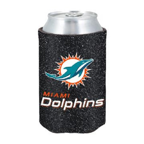 Miami Dolphins Kolder Kaddy Can Holder Glitter Black