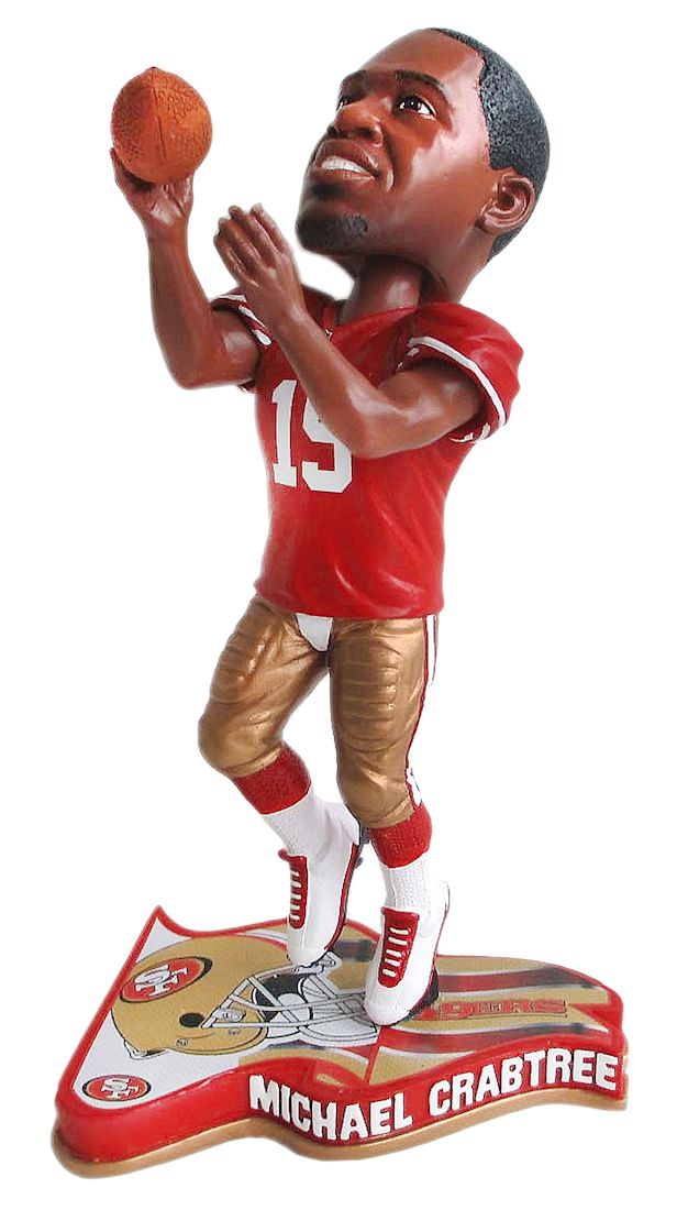 San Francisco 49ers Michael Crabtree Pennant Base Bobblehead