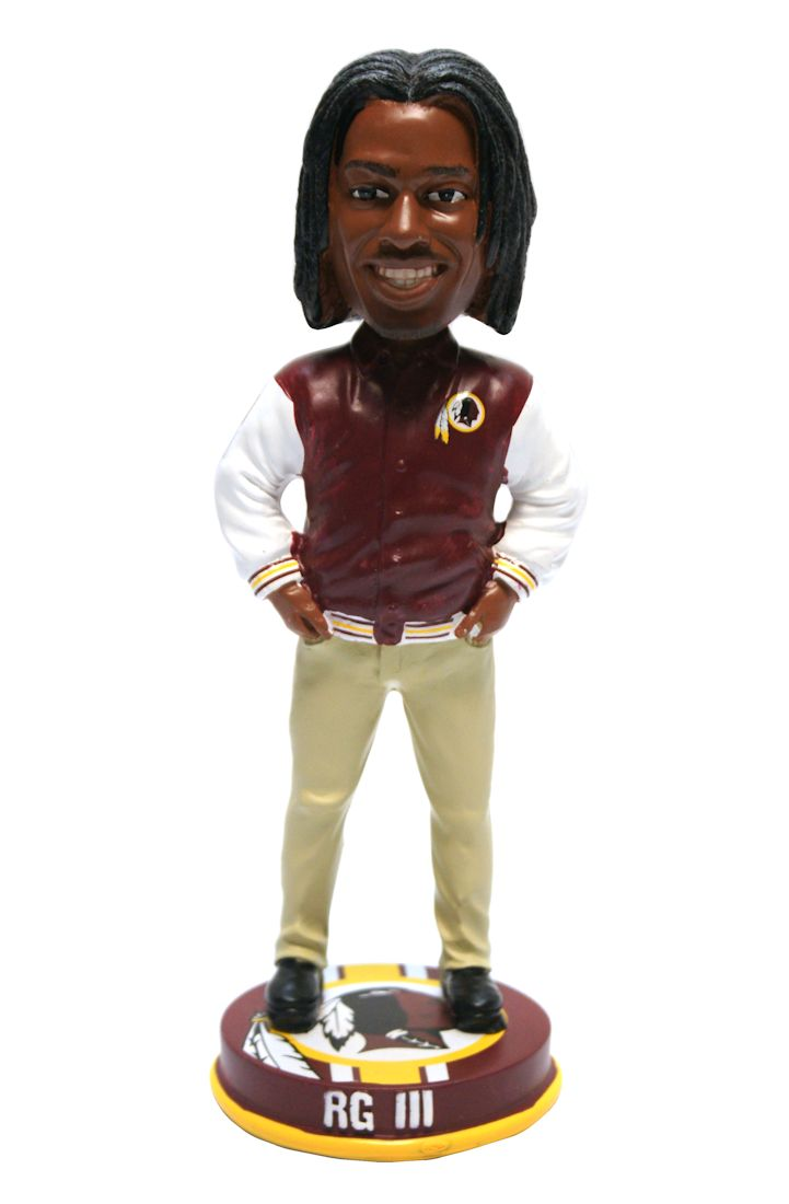 Washington Redskins Robert Griffin III Forever Collectibles Varsity Jacket Bobblehead