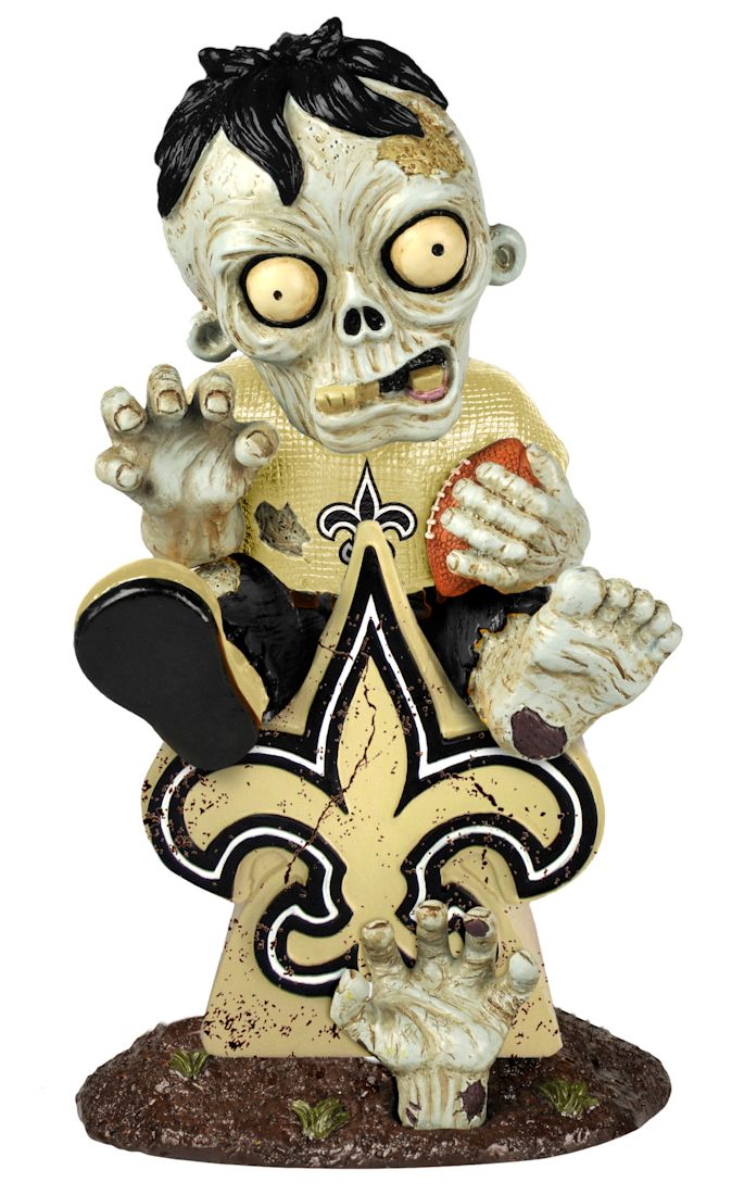New Orleans Saints Zombie On Logo Figurine