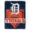 Detroit Tigers Blanket 60x80 Raschel Home Plate Design