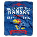 Kansas Jayhawks Blanket 50x60 Raschel Label Design
