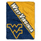 West Virginia Mountaineers Blanket 46x60 Micro Raschel Halftone Design Rolled