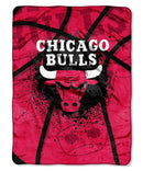 Chicago Bulls Blanket 60x80 Raschel Shadow Play Design