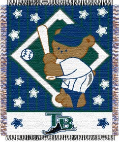 Tampa Bay Rays Blanket 36x48 Woven Baby Throw