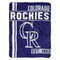 Colorado Rockies Blanket 46x60 Micro Raschel Walk Off Design Rolled