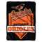 Baltimore Orioles Blanket 60x80 Raschel Home Plate Design