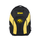 Iowa Hawkeyes Backpack Draftday Style Black and Gold