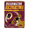 Washington Redskins Blanket 46x60 Micro Raschel 40 Yard Dash Design Rolled