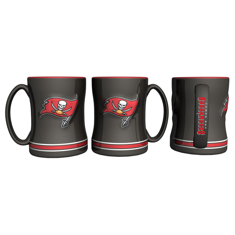 Tampa Bay Buccaneers Coffee Mug - 14oz Sculpted Relief - New Logo