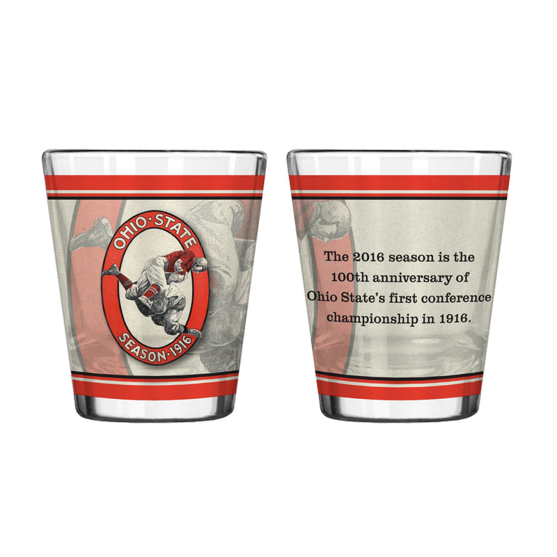 Ohio State Buckeyes Shot Glass - 2 oz Sublimated - 100th Anniversary