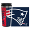 New England Patriots Travel Mug 14oz Full Wrap Style Hype Design