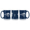Los Angeles Rams Coffee Mug 14oz Sculpted Relief Blue and White