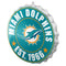 Miami Dolphins Sign Bottle Cap Style