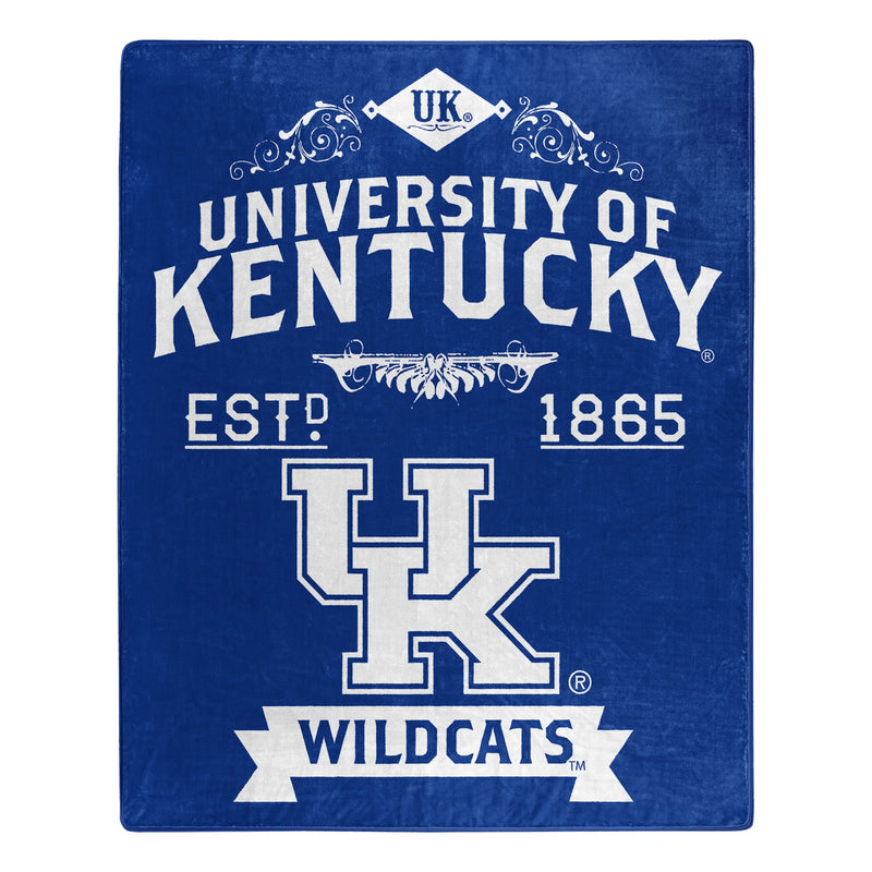 Kentucky Wildcats Blanket 50x60 Raschel Alumni Design