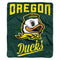 Oregon Ducks Blanket 50x60 Raschel Alumni Design