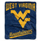 West Virginia Mountaineers Blanket 50x60 Raschel Alumni Design