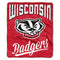 Wisconsin Badgers Blanket 50x60 Raschel Alumni Design