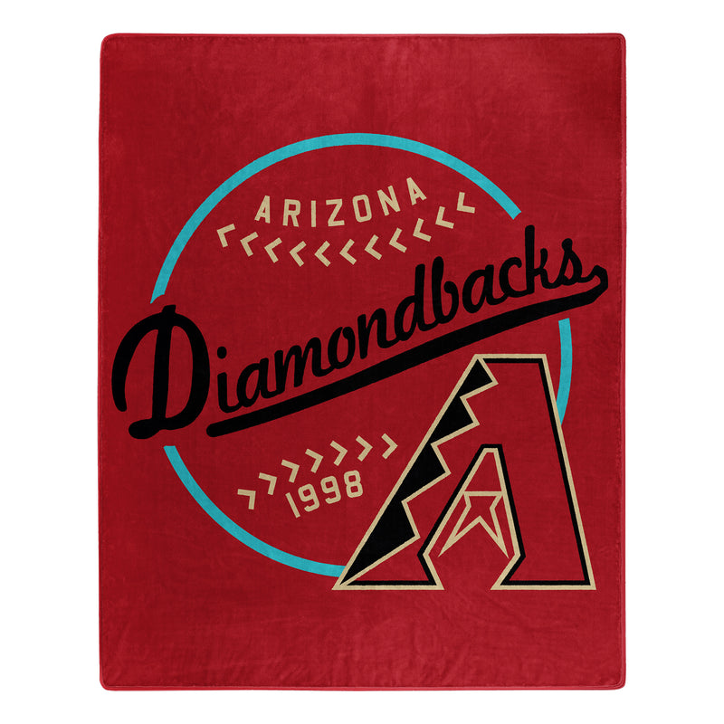 Arizona Diamondbacks Blanket 50x60 Raschel Moonshot Design