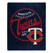 Minnesota Twins Blanket 50x60 Raschel Moonshot Design