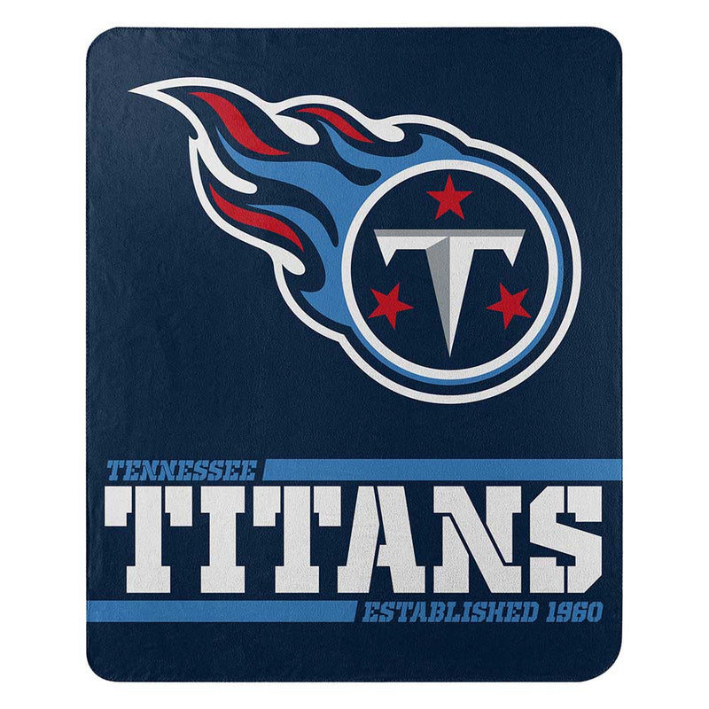 Tennessee Titans Blanket 50x60 Fleece Split Wide Design