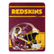 Washington Redskins Blanket 46x60 Micro Raschel Run Design Rolled