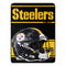 Pittsburgh Steelers Blanket 46x60 Micro Raschel Run Design Rolled
